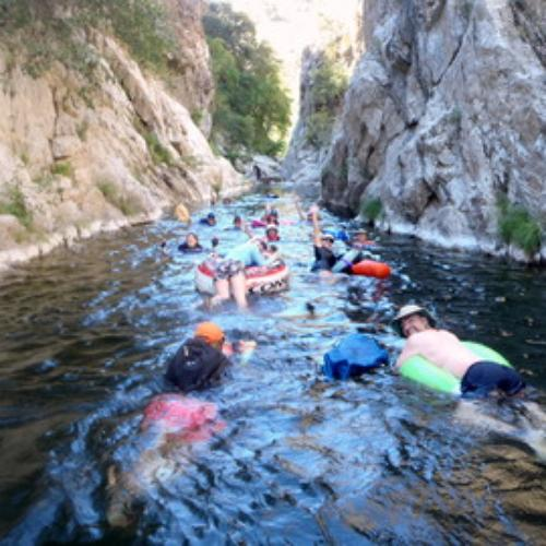Arroyo Seco River Gorge, Float and Camp Trip