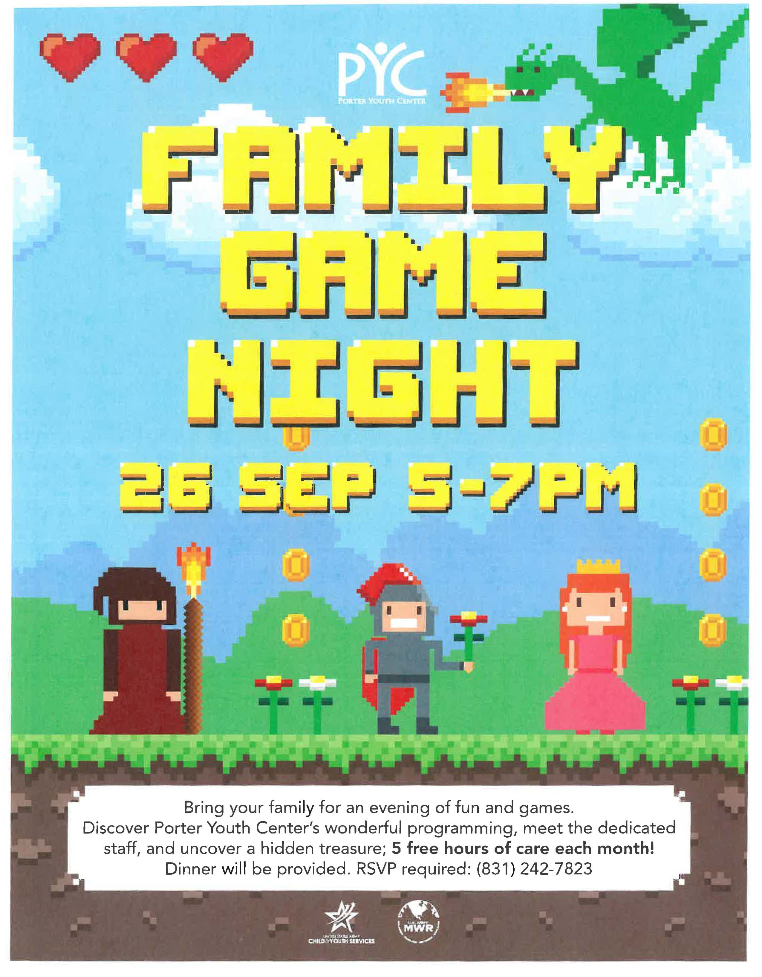 Family Game Night- PYC
